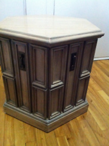 Needs to go today- Moving Sale - Real Oak Wood Side Table