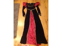 Womens medieval queen costume 14-16
