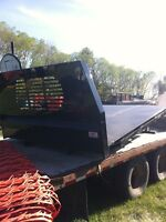 Well built unused checker plate truck deck 7' wide 8.5' long
