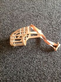Dog muzzle, never used, mint condition.