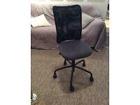 Black cloth office chair