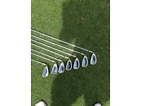Left hand golf irons 4-pw
