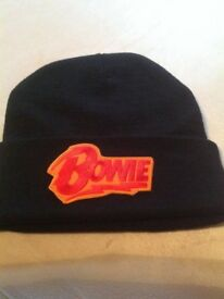 DAVID BOWIE Brand New Beanie Hat, Embroidered logo, Unisex fit