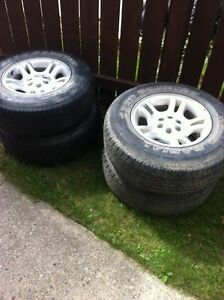 """4 dodge rims with 16""""  tires"""