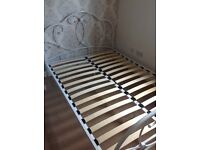 Primrose white metal double bed from next