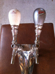 Draught Beer Tower with 2 Tap Handles