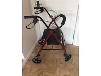 Walker mobility four wheel Rollator ( BRAND NEW) Can Deliver
