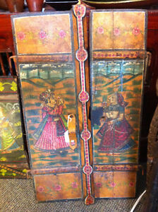 BEAUTIFUL ANTIQUE HAND PAINTED MOGUL SHUTTERS London Ontario image 1