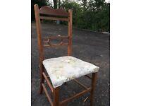 Delicate mahogany bedroom chair