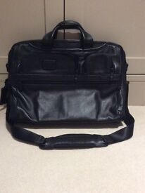 Tumi Large Screen Leather Briefcase - Never Used - A1 Condition