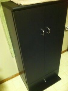 Black compact cabinet
