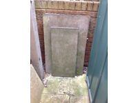 Concrete slabs, odd pieces
