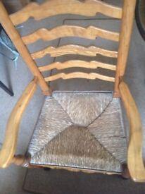 Pine ladder back chair