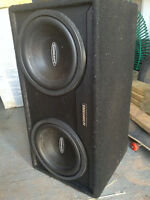 Subs in Box with amp ...$200.00