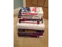 Assortment of Formula One books