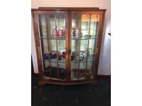 Vintage glass display cabinet Art Deco style, up cycle project