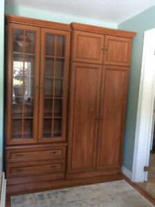 Wardrobe/Armoire and Bookcase Set