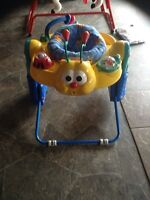 New exersaucer... Foldable and very cute!!