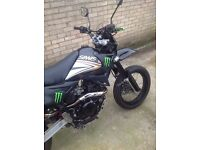 SINNIS APACHE 125cc motorbike 65 Reg