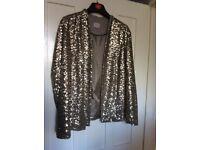 Ladies sequinned jacket size 18