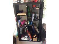 Black IKEA bookcase/shelves