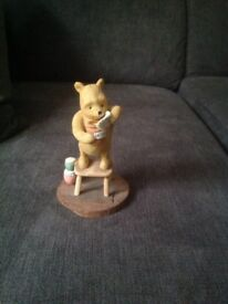 WINNIE THE POOH STANDING ON A CHAIR