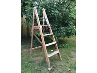 Wooden vintage step Ladders