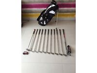 Wilson Staff golf clubs and bag - LEFT HAND