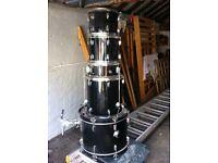 5 piece CB Black Drum Kit