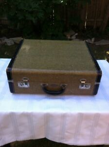 Vintage suitcase, mustard colour, $30