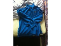Small males north face blue pull over fleece