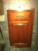 Cherry Wood Kitchen cabinets and folding table