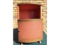 Lloyd loom style bedside cabinet