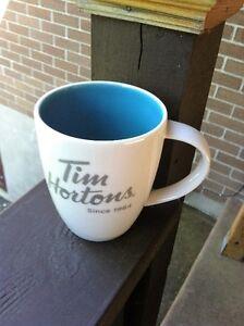 Tim Horton's 16 oz. Limited Edition Ceramic Coffee Mug #014 Blue