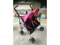 Silver cross dolls double buggy pushchair