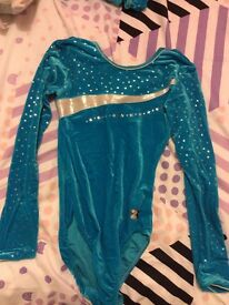 Blue gymnastics/ dance leotard