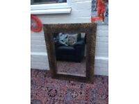 Large leapard print mirror