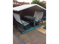 Veranda garden table chair Swing