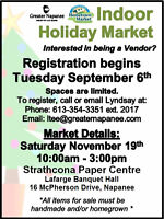 Greater Napanee Indoor Holiday Market