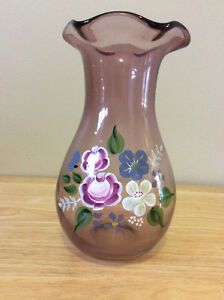 Fenton Hand Painted Vase in China Purple $25 - 7.5""