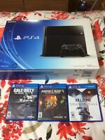 PS4 500 GB with three games