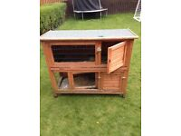 4ft, Two tier rabbit hutch