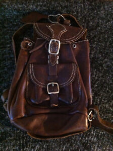 Roots mini handbag backpack - leather