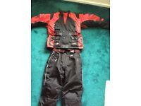 "Akito textile motorbike jacket and trouser xs 32"" waist"