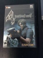 Resident evil 4 pc game good condition no scratched