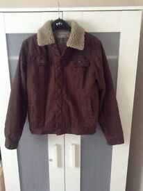Boys FatFace Fur Lined Jacket, Age 12-13 years