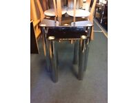 New Black or Clear Glass Nest of coffee Tables