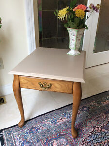 Elegant side table in muted shades