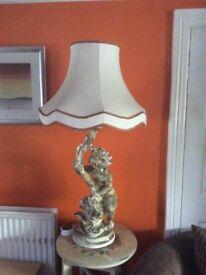 Cherub lamp stand / shade