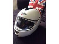 Excellent flip face Caberg crash helmet (small)